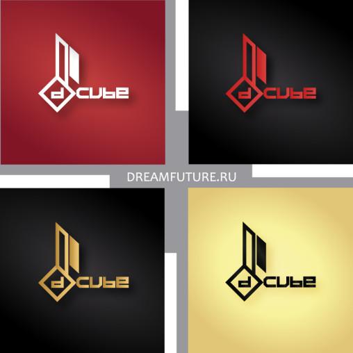 варианты логотипа для d - cube